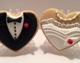 Wedding Cookies Bride Groom Custom