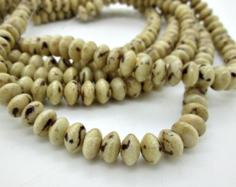Coral Limestone Saucer Disc Beads, 10mm (33)