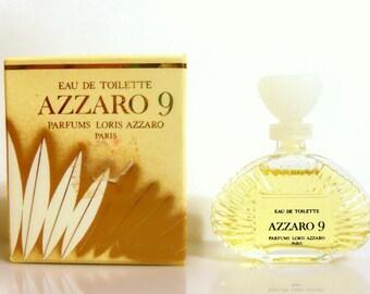 Vintage 1980s Azzaro 9 by Azzaro 0.17 oz Eau de Toilette Mini Miniature and Box PERFUME