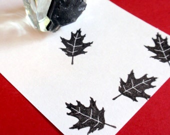 Oak Leaf Rubber Stamp   Handmade rubber stamps by BlossomStamps