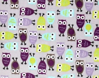 Minky Night Owls Blanket- Made To Order