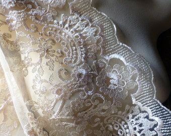 SALE GOLD Embroidered Lace Fabric for Bridal, Downton Abbey Gowns, BHLDN, Regency Costumes