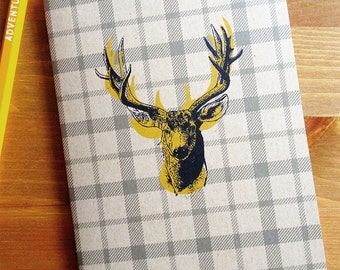 Stag Pocket Note Book, Travel Journal, Road trip journal, fathers day gift, graduation gift, animal lover, gift for mom, grandpa, nature