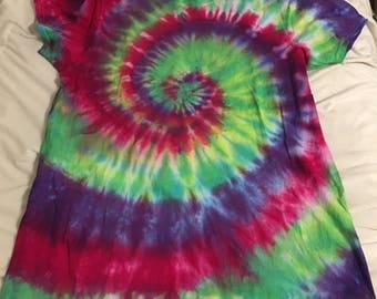 Hand-Made Spiral Halloween T-Shirt Size L