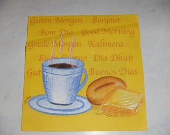 """Pretty NAPKIN pattern """"Breakfast"""""""
