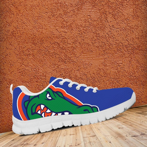 Ladies Custom Trainers Sizes Kids gift collector Mens White Unofficial Sneakers Shoes Fan fan Gators Florida Blue IqwnxzUqa
