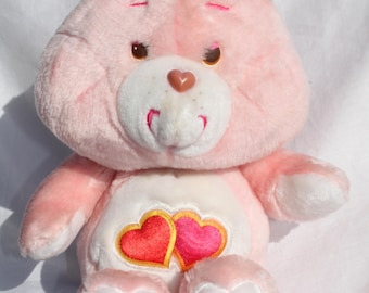 Vintage Care Bears Love-A-Lot Bear Kenner 1983 Hearts Plush Toy