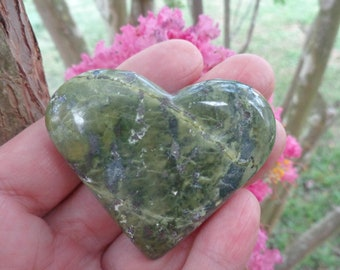 CLEARANCE - Green Serpentine Heart #2