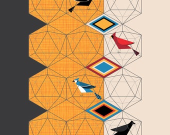Birds In Their Icosahedrons Art Print