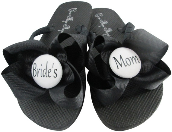 Maid Bridal for Honor of Flower Polka MOB Party Bows Flip with Bride girl and Sandals Dot Flops Wedding Bridesmaid the OnYxP8w1q