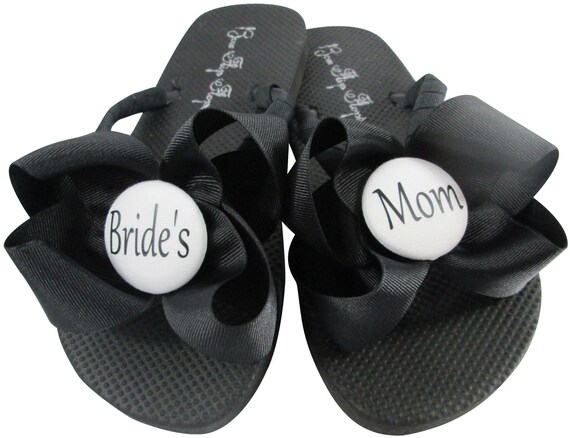 Bride of MOB Party Dot Polka with Maid girl Flip Flower Wedding the Flops Honor Bridesmaid for Bridal Bows and Sandals TffwvW