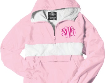 Monogram Jacket, Monogrammed Rain Jacket, Windbreaker, Coat, Anorak, Rain Slicker, Jacket, Custom Monongram, Hooded, embroidered jacket