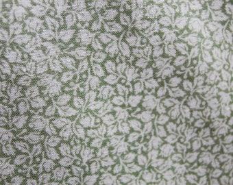 Light Green Floral Fabric, Leaf Fabric, Light Green Leaf Fabric by the Yard