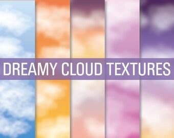80% OFF SALE Cloud Textures, Cloud Digital Paper, Cloud Overlays, Texture Papers, Texture Overlays, Digital Overlay, Digital Paper
