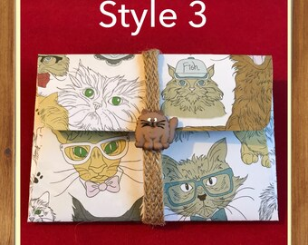 Quirky Cat gift card envelopes  | money card | gift card holder| DIY coupon | voucher holder | invite | thank you | ticket