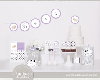 Little Lamb Shower Printable Baby Shower Party Package by tania's design studio