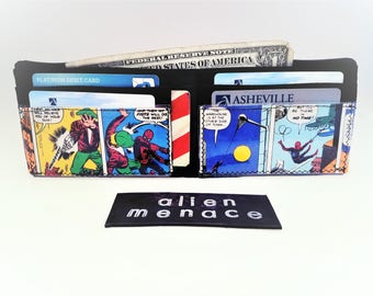 Up-cycled Inner Tube Comic Wallet/Spiderman