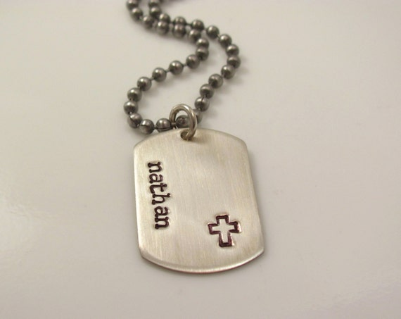 Boys christian gift mini dog tag personalized hand stamped like this item audiocablefo