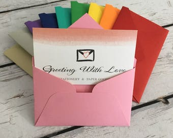 "Business card gift card envelopes gift card holder 2.25x3.75"""