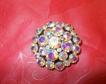 Vintage Iridescent Brooch