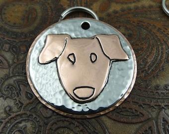 Jack Russell Custom ID Dog Tag-Personalized Pet ID Tag-Dog Collar Tag-Handmade Pet ID Tag
