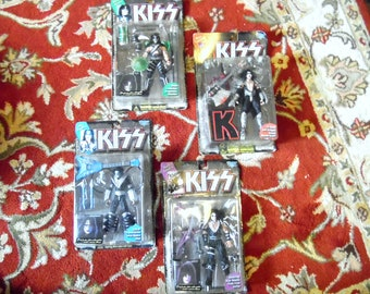 1997 Kiss Action Figures Complete Collection Sealed Unopened Set of Four  Collectible Rock n Roll Figurine Kiss Army