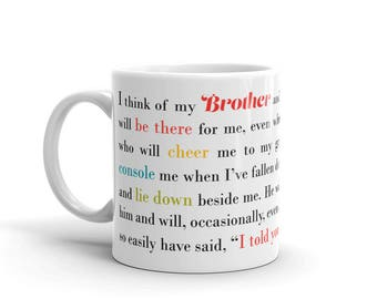 Gift for Brother | Birthday Present for Brother | Present for Brother |  Brother's Birthday | Brother Coffee Mug | Gifts Under 20