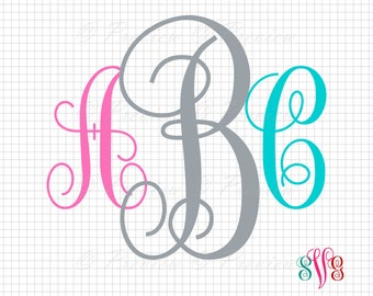 Buy 2 Get 1 Free! Digital Clipart Monogram Alphabet, beautiful modern cutting curly, images, world style png/eps/svg/dxf/studio cut files