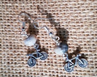 Mountain Bike Earrings
