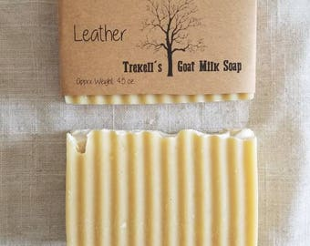 Leather- Goat Milk Soap