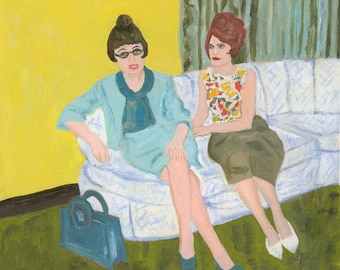 Helen and Florence. Limited edition print by Vivienne Strauss.