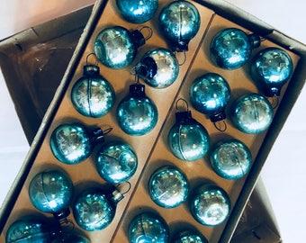 Shiny Brite ornaments, Shiny Brite miniatures, vintage shiny brite, vintage ornaments, christmas tree ornaments, feather tree ornaments