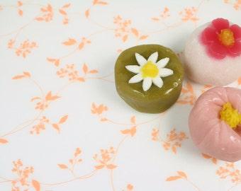 Semi Transparent Orange Vine Leaf Motif Wax Paper Baking Cookie Sandwich Gift Wrap (25 sheets)