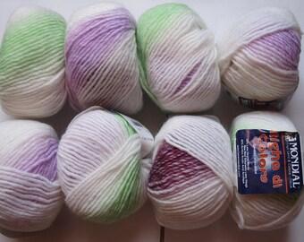 set of 10 balls of Merino di lines color 664 world