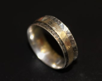 Handmade adjustable ring medieval style