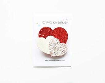 Hearts Glitter Heart Hairclip or Headband
