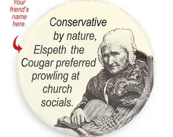 PERSONALIZE THIS! Funny Cougar Magnet