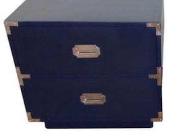 Campaign nightstand 2 drawer I have 4 different sizes customizable