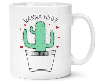 Cactus Wanna Hug 10oz Mug Cup