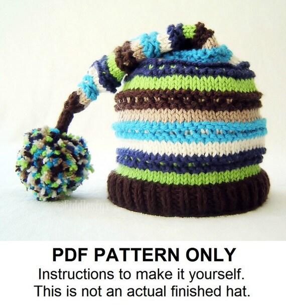 Knitting Pattern Boys Hat Pattern Stocking Hat Pattern