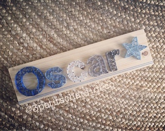 Panel name Custom String Art - wall decor for nursery child, baby wooden