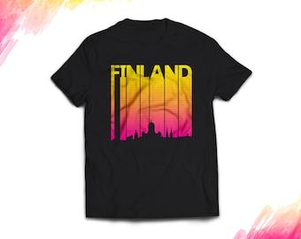 Finland Shirt women men, Retro Finland Gift T shirt, Vintage style Finland T shirt, 1980s Finland tshirt souvenir, tee #1722