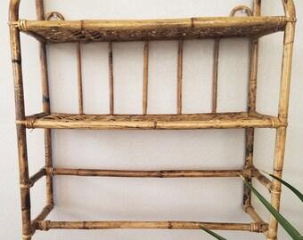 Bamboo wall shelf | Etsy