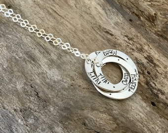 Mom Necklace Personalized With Kids Names | Mommy Necklace Gift | Mother Necklace With Childrens Names