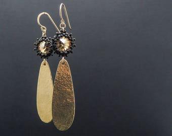 Long Earrings, Gold Earrings, Jewelry, Earrings, Statement Earrings, Mother Of The Groom, Earring Gift For Wife, Seed Bead Earrings