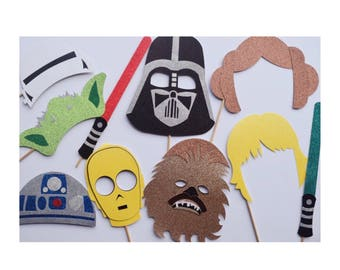 Disney Photo Booth Props ; Disney Star Wars Photo Booth ; Star Wars Birthday Party Decor ; Darth Vader ; Star Wars Decoration