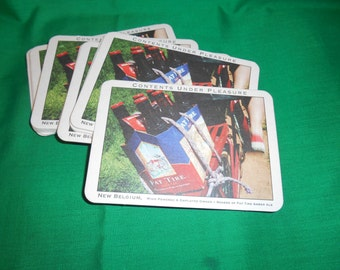 Twenty (20) New Belgium Brewery, Coasters/Post Cards, for Flat Tire Amber Ale