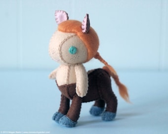 Centaur Wool Felt Plush Art Doll