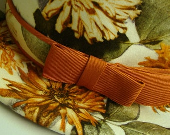 vintage 60s Lilly Daché DEBS fall day hat-wool felt-floral photo collage print
