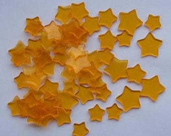 56 plastic stars color ORANGE 4 sizes REF. 421